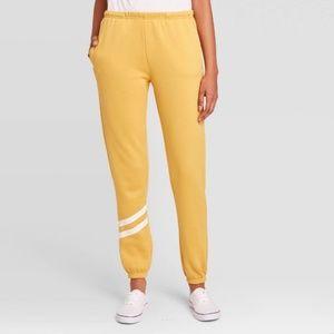NWT Yellow Striped Jogger Pants Target XS